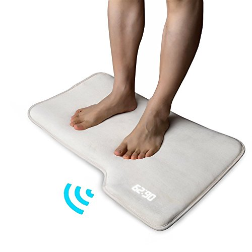 SD Stand On Pressure Sensitive AAA Battery Smart Alarm Clock Mat Floor Rug LED Time