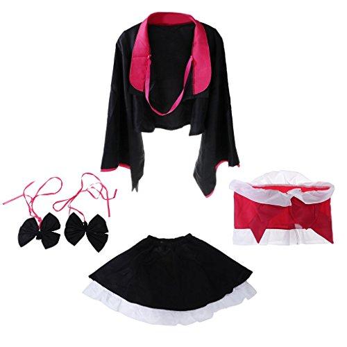 2X Diversión 1x Falda Homyl 1x Escudo Bowknot 1x Disfraces Lencería Cinturón Vestido Headwear pPEE6Ywq