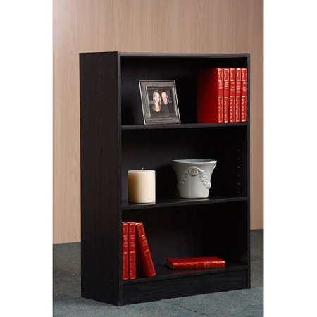 Orion 3-Shelf Bookcase, Multiple Finishes by BLOSSOMZ in Black Finish by Mylex