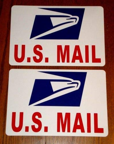 Flexible Magnets (2) U.S. Mail Magnetic Sign USPS 8х12 Rounded Corners