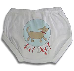 Light of Mine Designs Hot Dog Diaper Cover/Panty Brief, 12 Months