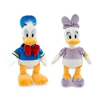 Disney Ducks Bean Bag Plush Set - Donald and Daisy Duck