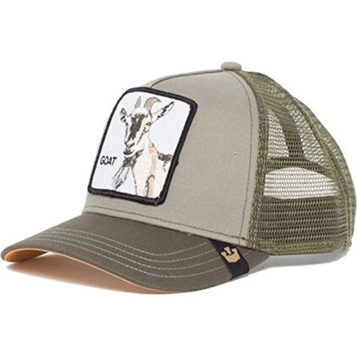 Goorin Brothers Unisex Animal Farm Snap Back Trucker Hat Olive Goat Beard  One Size 35ca62c3a3f1