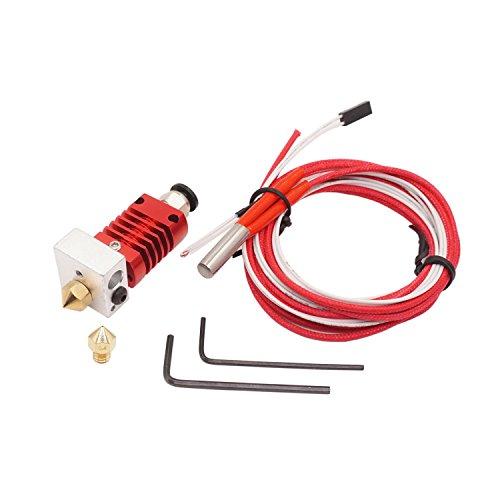 WINSINN 3D Printer CR-10 Hotend Extruder Kit - 0.4mm Copper Nozzle CR10 For Creality CR-10 CR-10S S4 S5 1.75mm Filament by WINSINN
