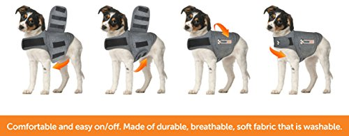 ThunderShirt Classic Dog Anxiety Jacket | Vet Recommended Calming Solution Vest for Fireworks, Thunder, Travel, & Separation | Heather Gray, Large