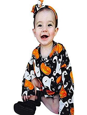 BaZhaHei Halloween Disfraz Bebé de Calabaza de Halloween con ...