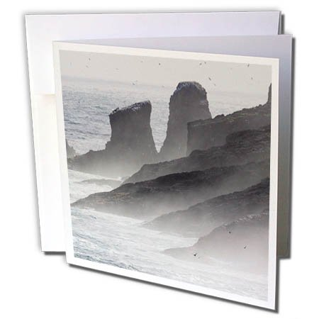 3dRose Danita Delimont - Coastlines - The Cliffs Of Mykinesholmur. Island Mykines, Faroe Islands, Denmark - 12 Greeting Cards with envelopes (gc_277343_2)