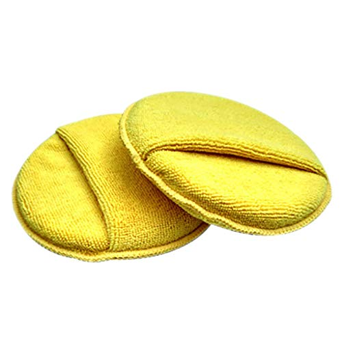 (Ansenesna Cleaning Supplies Car Waxing Polish Microfiber Foam Sponge Applicator Detailing Pads)