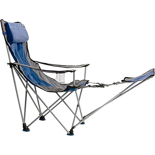 TravelChair Bubba High Back Folding Camp Chair with Pillow, Blue