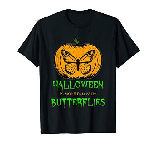 Butterfly Pumpkin Carving Halloween Clip Art Silhouette T-Shirt -