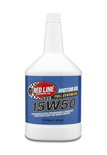 Red Line 11504 15W-50 Synthetic Oil - 1 Quart Bottle, (Pack of 12)