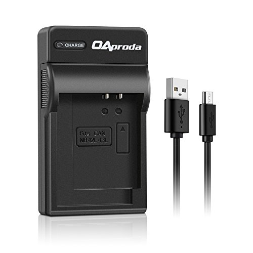 OAproda NB-13L Ultrathin Micro USB Battery Charger for Canon NB13L Battery, PowerShot G7 X, G9 X, G7 X Mark II, G9X Mark II, G1 X Mark III, SX720 HS, SX620 HS, SX730 HS, SX740 HS, CB-2LH Charger