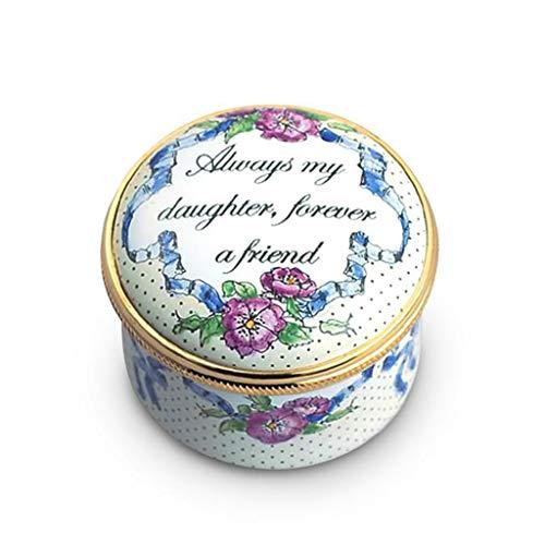(Staffordshire Always My Daughter Enamel Box)