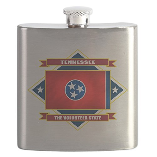 CafePress - Tennessee Diamond.Png - Stainless Steel Flask, 6oz Drinking Flask