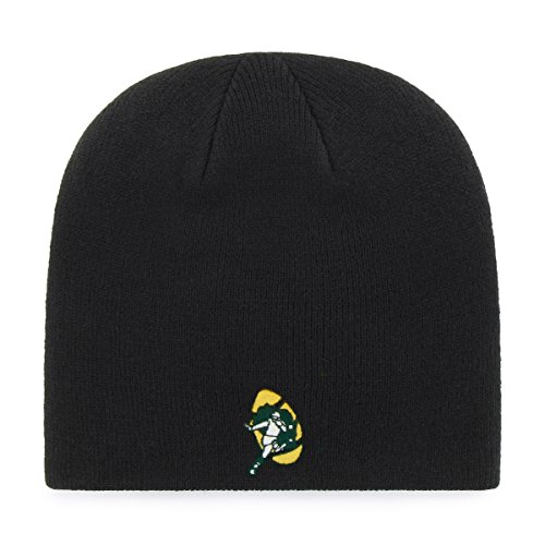 Nfl Throwbacks - OTS NFL Green Bay Packers Legacy Beanie Knit Cap, One Size, Black