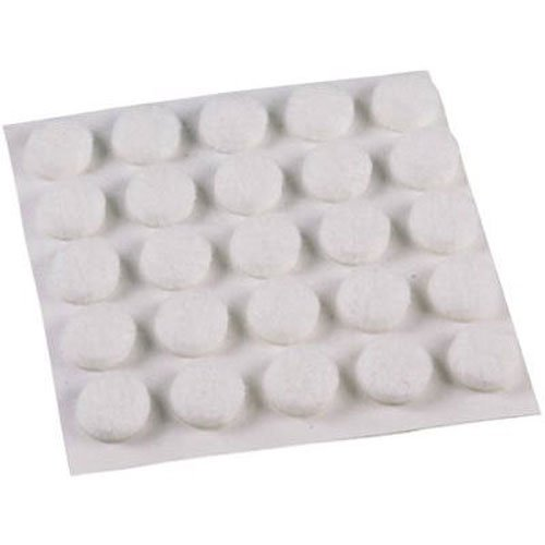Shepherd Hardware 9957 3/8-Inch Self-Adhesive Felt Furniture Pads, 75-Pack, White