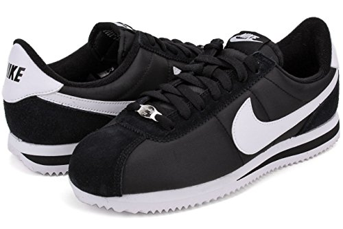 metallic Nike Multicolore black 011 white Cortez Nylon Da Scarpe Fitness Uomo Basic Silver vAWqTrw0vx