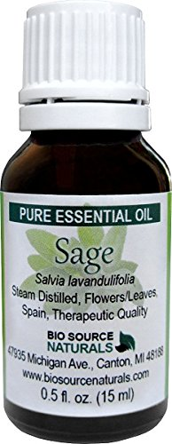 Sage  Pure Essential Oil 0.5 fl oz / 15 ml - Therapeutic Qua