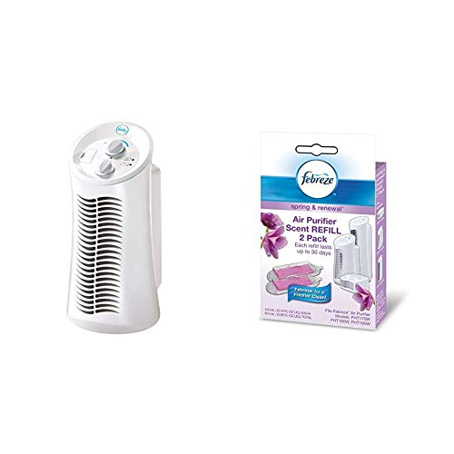 Febreze FHT180W  HEPA-Type Mini Tower Air Purifier with Febreze Scent Refill, Spring and Renewal, 2-Pack (Honeywell 50250 S True Hepa Air Purifier Manual)