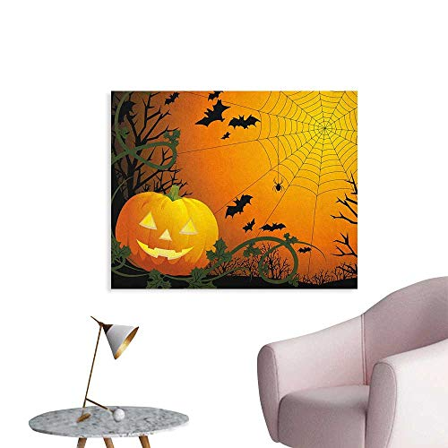 Anzhutwelve Spider Web Wall Paper Halloween Themed Composition
