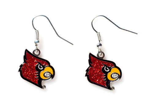 (Louisville Cardinals - NCAA Glitter Logo Dangle Earrrings)