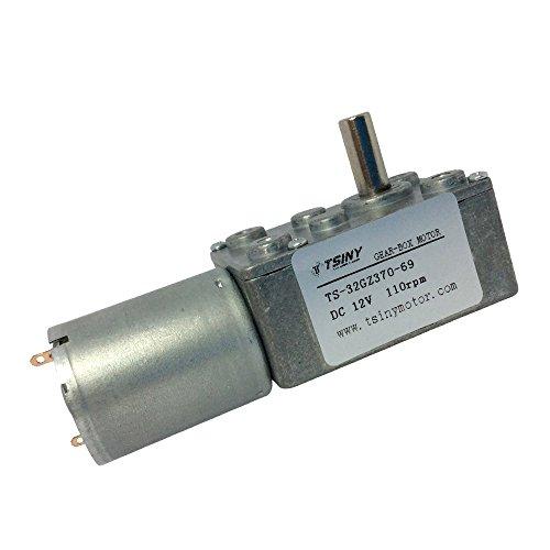 Bemonoc small 12 volt gear motor high speed worm geared for Small 12 volt motors