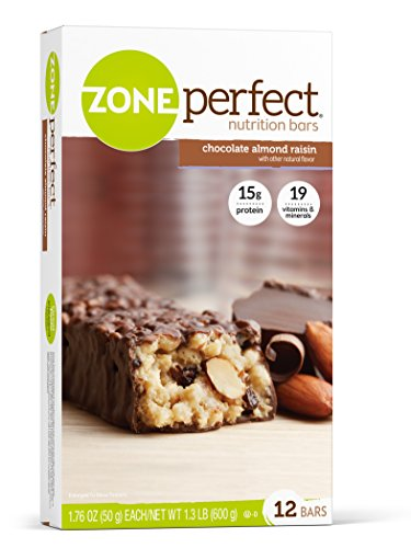Zone Perfect Nutrition Bar, Chocolate Almond Raisin, 12 Count (Pack of 3)