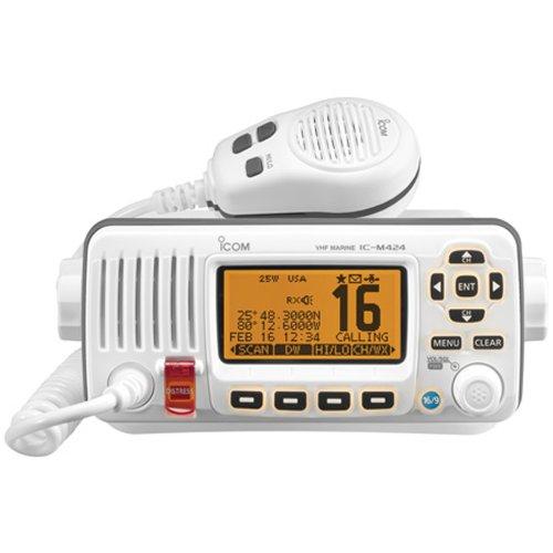 ICOM IC-M424 02 Compact Marine VHF Radio with Hailer, White primary