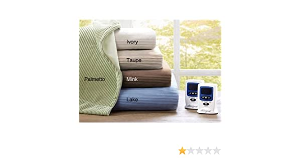 8ed68b3212 Amazon.com  Ribbed Microfleece Heated Blanket - Queen Size (Lake)  Home    Kitchen