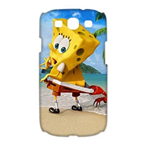 Design Snap-on Cute Cartoon The SpongeBob Movie Sponge Out of Water Hard Plastic Protective Durable Back Case Shell for Samsung Galaxy S3 I9300 Case-5