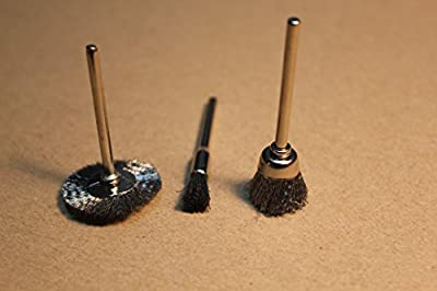3 in 1 Set Stainless Steel Wire Brushes(428 442 443) For Rotary Tool Accessory Dremel Polishing Buffing Brush