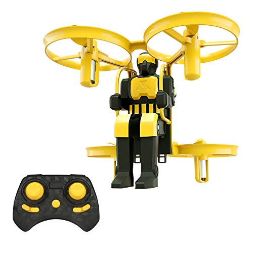 Mini Nano Drone for Kids, Lefant Jetpack 2.4GHz Small Micro RC Quadcopter RTF Drone Remote Control Kids Toys Drone for Beginners with 6-Axis Gyro 3D Flips Altitude Hold One Key Take Off Landing-Yellow -