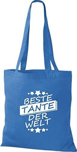 ShirtInStyle Bolso de tela Bolsa de algodón Mejor TANTE der Welt Royal