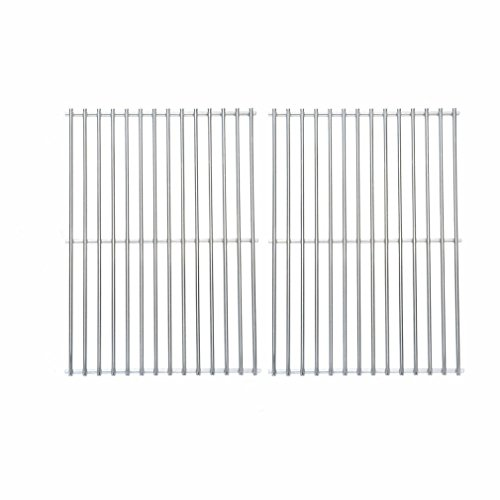 Onlyfire BBQ Stainless Steel Cladding Rod Grates/Cooking Grid Replacement Fit for Charbroil, Front Avenue, Fiesta, Kenmore, Kirkland, Kmart, Master Chef, and Thermos Gas Grill and Others, Set of 2