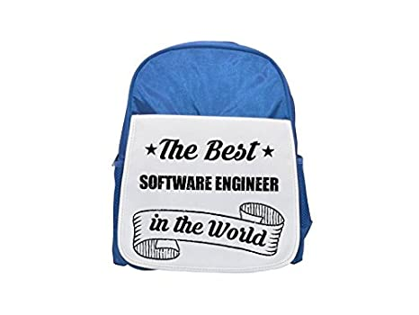 The Best Software Engineer in the World - Mochila infantil con estampado azul, mochilas lindas