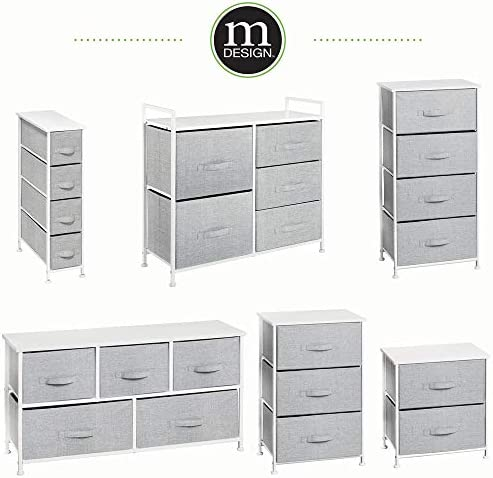 baby products, nursery, furniture, changing, dressing,  chests, dressers 1 image mDesign Short Vertical Dresser Storage Tower - Sturdy Steel in USA