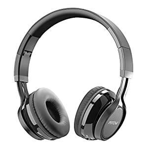 mpow thor bluetooth headphones foldable over ear wireless headset with mic and wired. Black Bedroom Furniture Sets. Home Design Ideas
