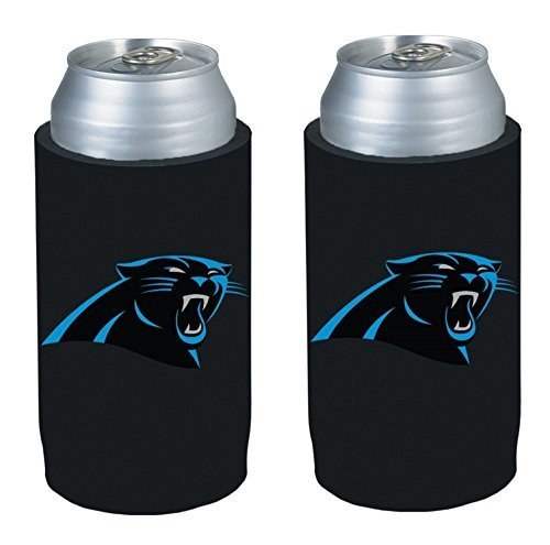 NFL 2013 Football Ultra Slim Beer Can Holder Koozie 2-Pack - Pick your team (Carolina Panthers)