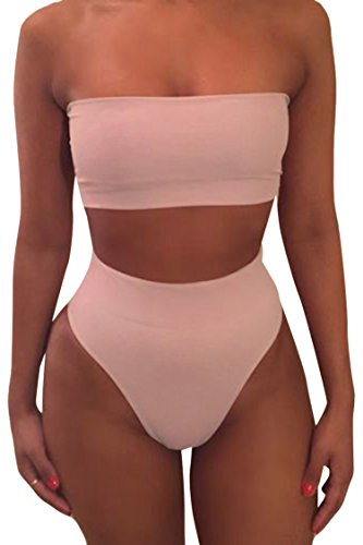 Pink Queen Women's Removable Strap Pad Thong Bikini Set Wrap Swimsuit Pink1 - Delivery Time Usps