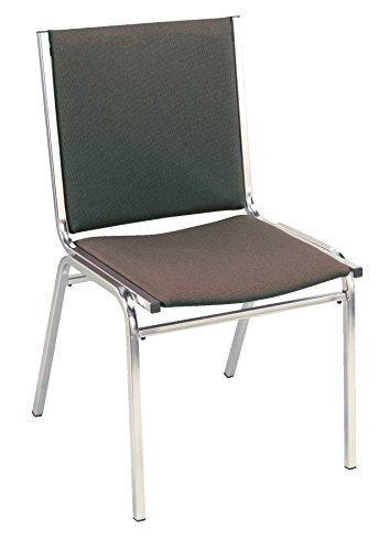 KFI Seating 410 Armless Stacking Chair, Commercial Grade, 1-Inch, Brown Fabric, Made in the USA ()