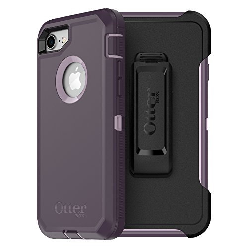 OtterBox Defender Series Case for iPhone 8 & iPhone 7 (NOT Plus) - Frustration Free Packaging - Purple Nebula (Winsome Orchid/Night Purple)