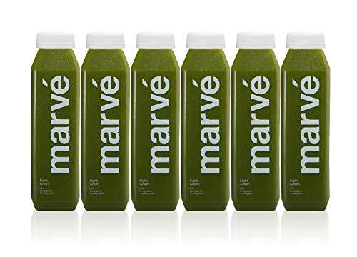 Marvé Juice Cold Pressed Juice   Light Green - Cucumber, Celery, Kale, Spinach and Lemon - 12 ounce (6 Pack)