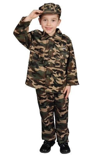 - Pretend Military Deluxe Army Toddler Costume Dress-Up Set Size T2