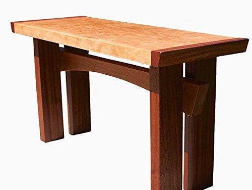 Asian Style Zen mahogany and Cherry Bench