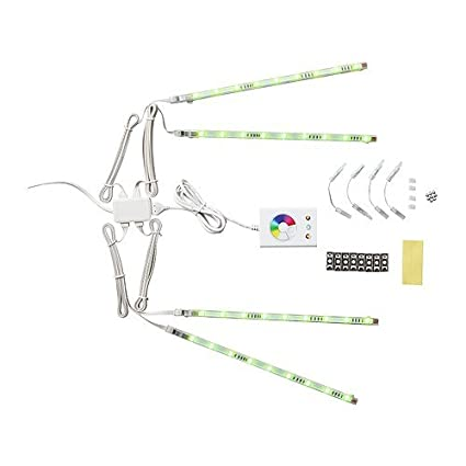 Amazon.com: Ikea 501.923.65 Dioder LED Light Strip Set, Multicolor ...
