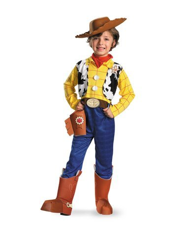 [Disguise Limited Boys' Disney Toy Story Woody Deluxe Costume Multicoloured 3T to 4T] (Woody Costume Vest)