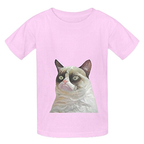 Price comparison product image Grumpy Cat Orange Teen Crew Neck Short Sleeve Shirts Black