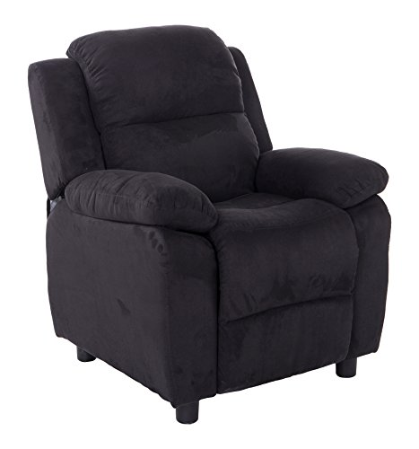 Mochi Furniture KR2056BK Microfiber Kids Recliner, Black by Mochi Furniture
