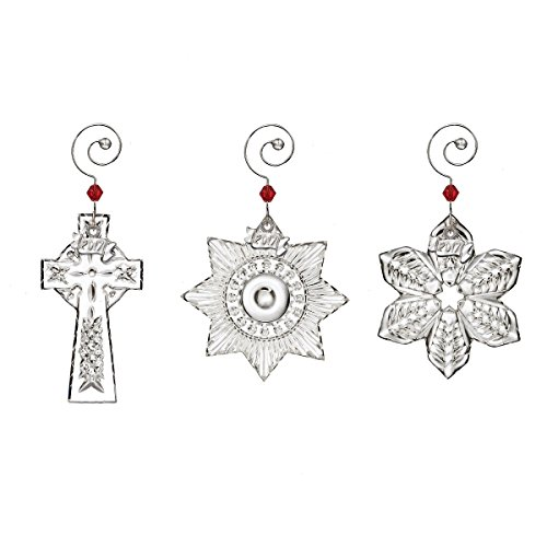 Waterford Crystal 2017 Mini Ornaments - Set of 3 Ornaments - A Snowflake, Cross, And Star Mini Star Ornament