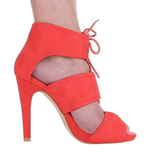 Ital-Design - Sandalias / Sandalias Mujer Rojo - coral